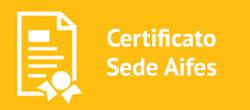 Certificato Sede Aifes